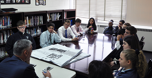 Stanwich Tenth Graders Meet with GCDS Headmaster